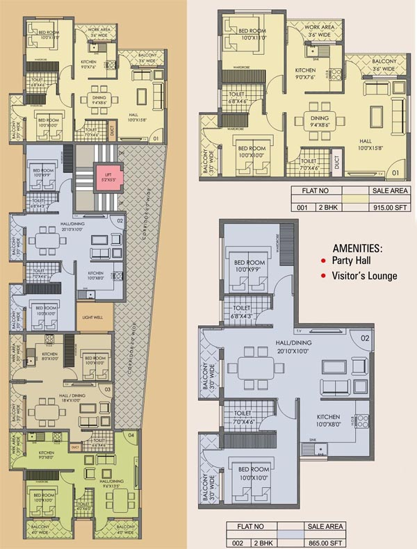 Crystal Castle Kinnigoli Floor Plan